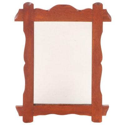 Craftsman Style Cherry Wood Wall Mirror