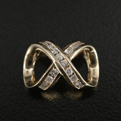 14K Diamond Infinity Slide Pendant