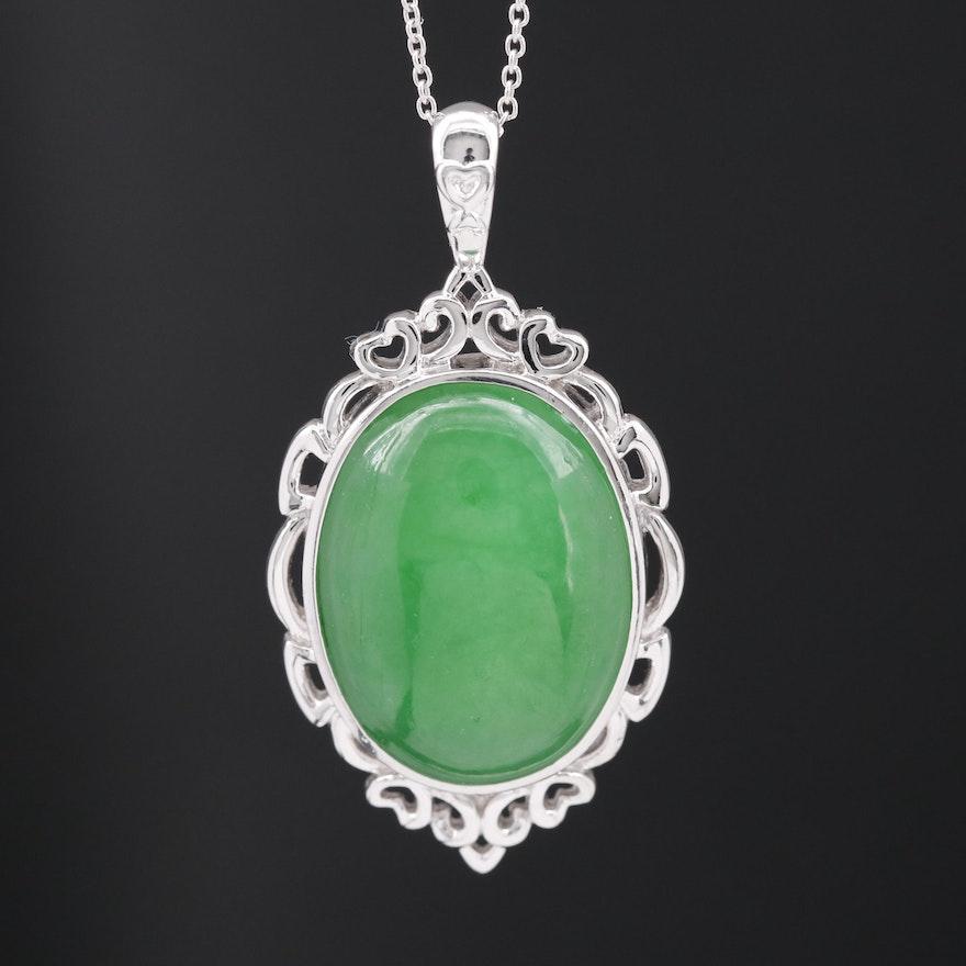 Sterling Silver Jadeite Necklace