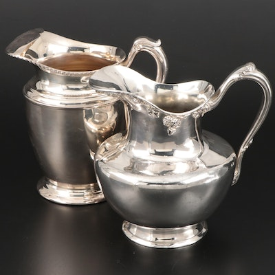 Barbour Silver Co. and Crescent Mfg. Co. Silver Plate Pitchers