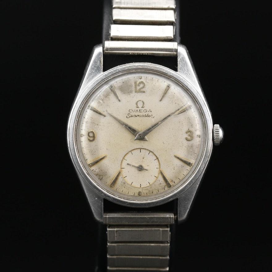 1958 Omega Seamaster Ranchero Stainless Steel Stem Wind Wristwatch