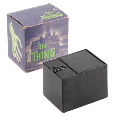 """Filmways TV Productions """"The Thing"""" Adams Family Bank, Original Packaging, 1964"""