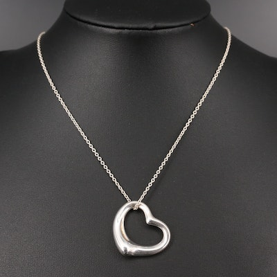 "Elsa Peretti for Tiffany & Co. ""Open Heart"" Sterling Silver Necklace"