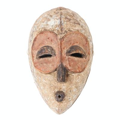 Bembe Inspired Hand-Carved Wood Spirit Mask, Central Africa