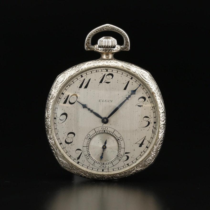 1925 Elgin Gold Filled Open Face Pocket Watch