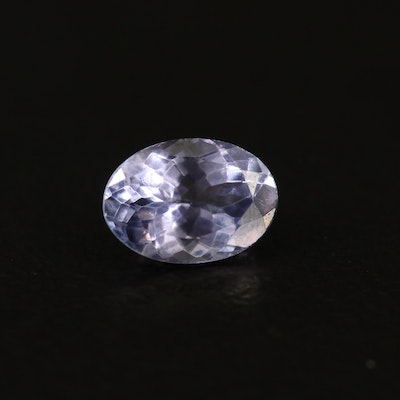 Loose 0.64 CT Oval Faceted Tanzanite