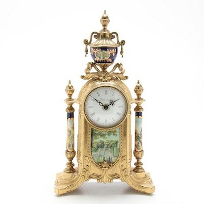 Imperial Ormolu Cobalt Pictorial Mantel Clock