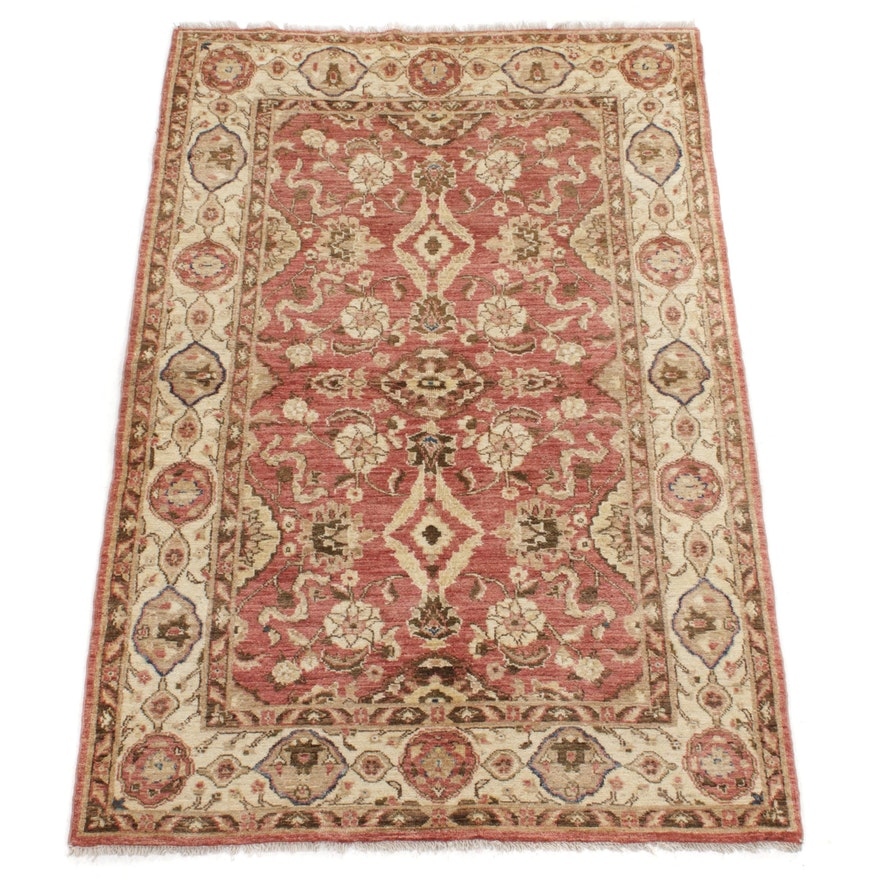 4' x 6'5 Hand-Knotted Afghani Persian Tabriz Rug, 2000s