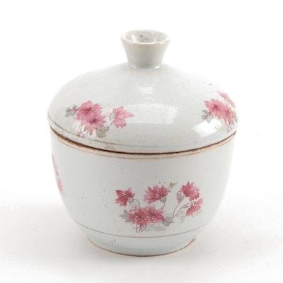 Chinese Republic Period Ceramic Sugar Bowl