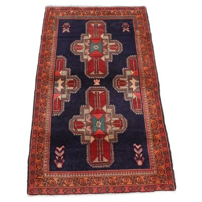 4'2 x 7'6 Hand-Knotted Northwest Persian Rug, 1970s