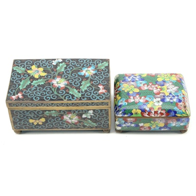 Chinese Cloisonné Boxes, Mid-20th Century