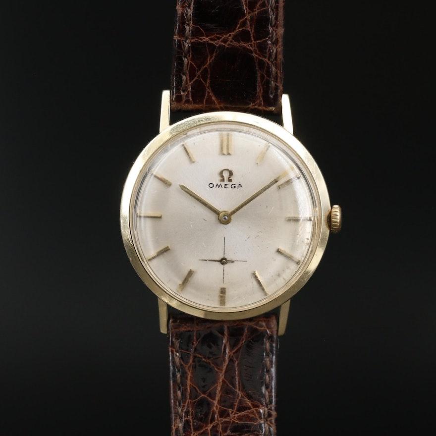 1962 Omega Ref. H6550 14K Gold Stem Wind Wristwatch