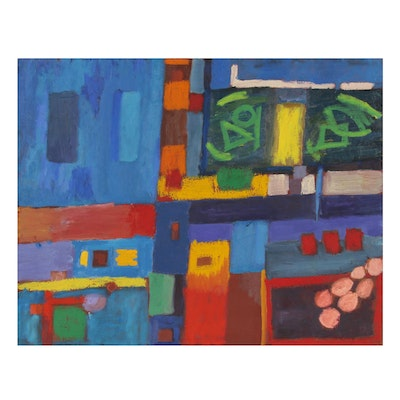 Jerald Mironov Non-Objective Abstract Oil Painting