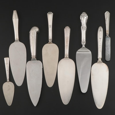Webster and Other Sterling Silver and Silver Plate Cake Servers and More