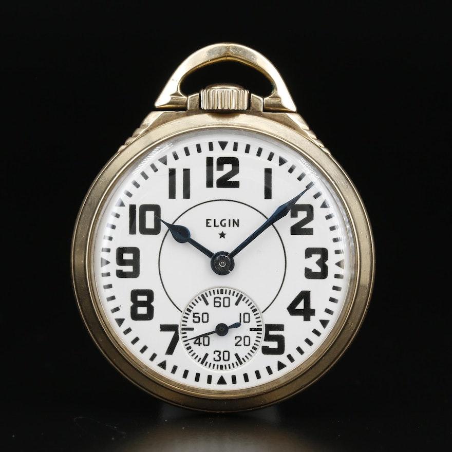 1952 Elgin 10K Gold Filled Railroad Grade Pocket Watch