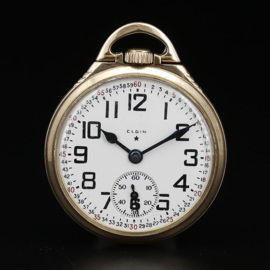 1940 Elgin B.W. Raymond 10K Gold Filled Railroad Grade Pocket Watch