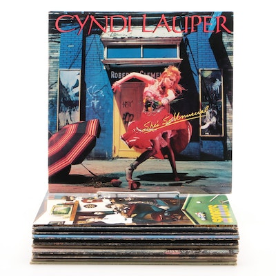 Cyndi Lauper, Toto, Dire Straits, Styx, and Other Vinyl Records