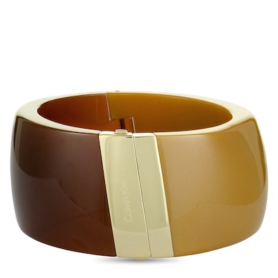 Calvin Klein Vision Yellow and Brown Gold-Plated Stainless Steel Bracelet
