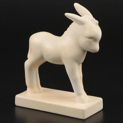 Rookwood Pottery White Matte Glaze Donkey Figurine after Louise Abel, 1941