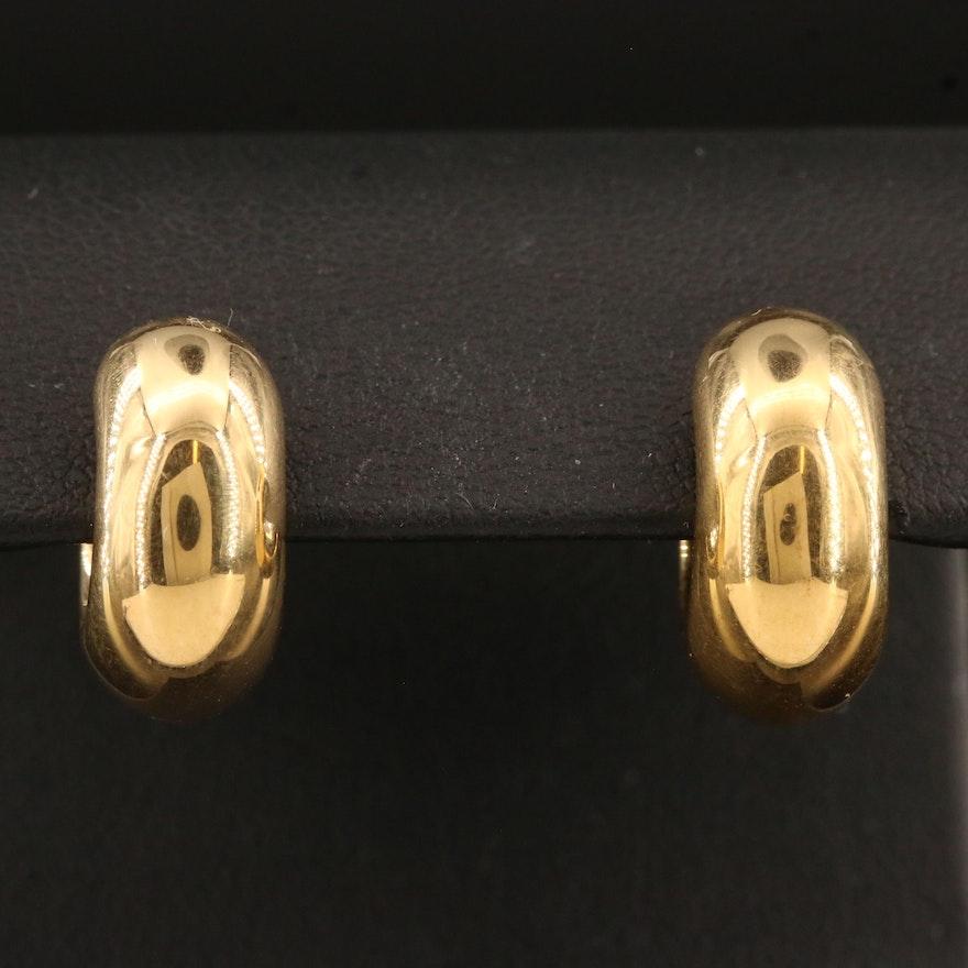 18K Small Hoop Earrings
