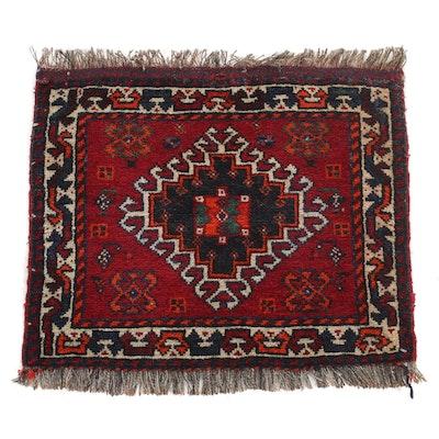 1'11 x 2'1 Hand-Knotted Persian Qashqai Shiraz Rug, 1950s