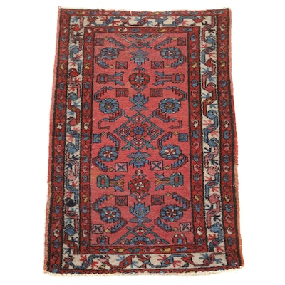 2'5 x 3'10 Hand-Knotted Northwest Persian Rug, 1920s