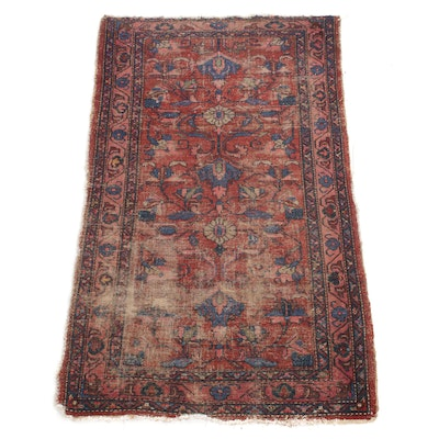 3'6 x 5'11 Hand-Knotted Persian Zanjan Rug, 1920s