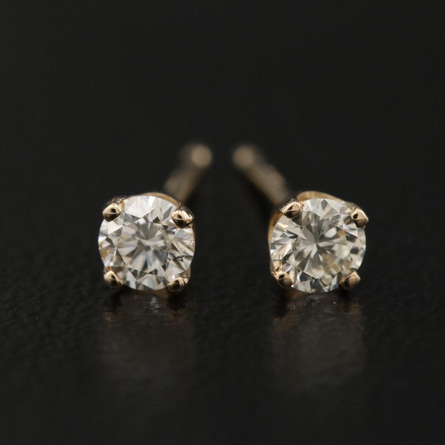 14K 0.26 CTW Diamond Stud Earrings