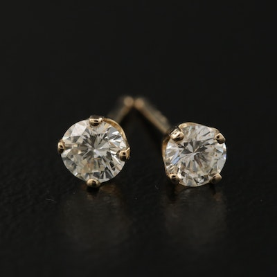 14K 0.37 CTW Diamond Stud Earrings