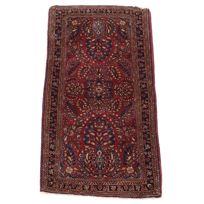 2'7 x 5'2 Hand-Knotted Persian Sarouk Rug, 1920s