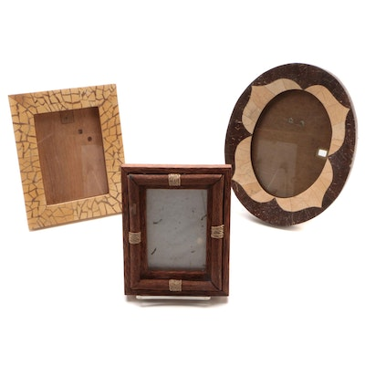 Coconut Wood and Shell Frames