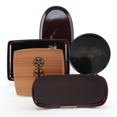 Japanese Lacquerware and Wood Trays