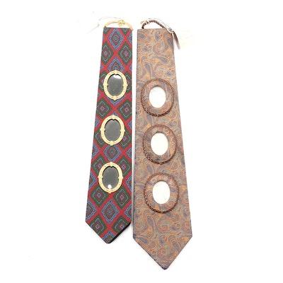 Pierre Cardin and Other Silk Necktie Picture Frames, Vintage