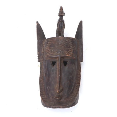 Dogon Style Hand-Carved Wood Mask, Mali