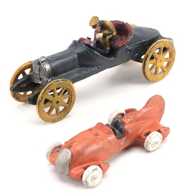 Cast Iron Auto Racing Cars, Late 20th Century