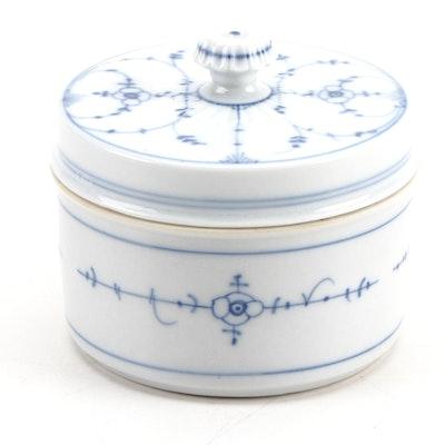 Blue and White Porcelain Lidded Jar