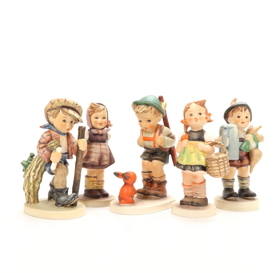 "Goebel ""Sensitive Hunter"" and Other Hummel Figurines, Mid to Late 20th C."