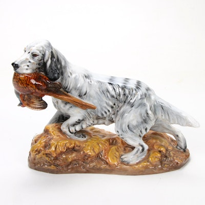 Royal Doulton Porcelain Figurine of English Setter with Pheasant