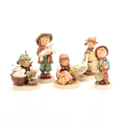 "Goebel ""Goose Girl"" and Other Porcelain Hummel Figurines"