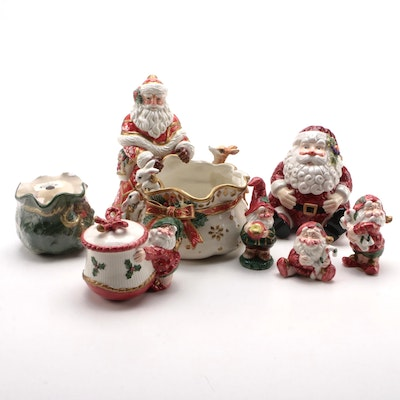 "Fitz and Floyd ""Father Noel"" and Other Christmas Table Accessories"