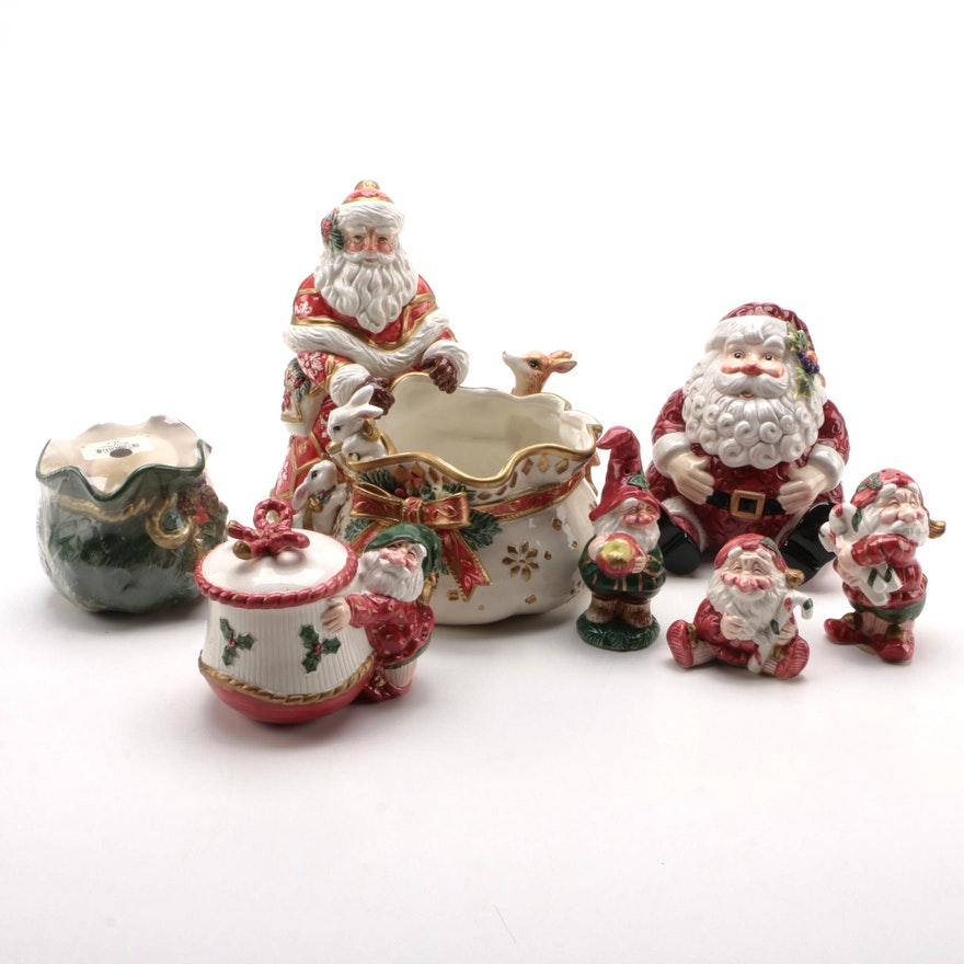 """Fitz and Floyd """"Father Noel"""" and Other Christmas Table Accessories"""