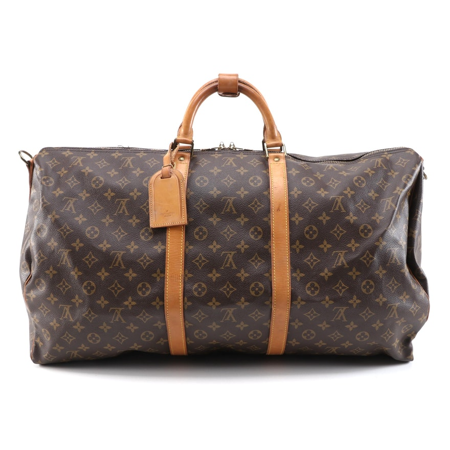 Louis Vuitton Maletier lKeepall Bandouliere 60 in Monogram Canvas