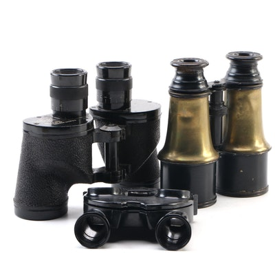 Universal Camera U.S. Navy, Jumelle Marine Binoculars, and Stereo Lenses, 1940s