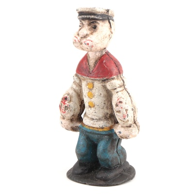 """Popeye"" Cast Iron Still Bank, Contemporary"