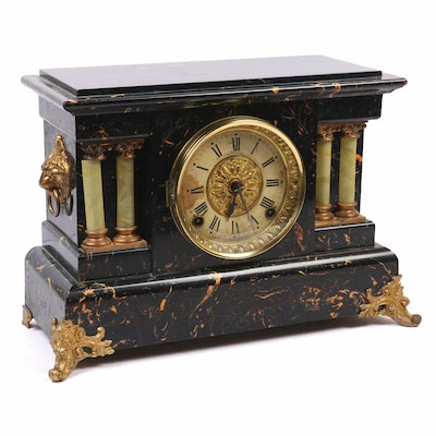 Seth Thomas Victorian Eastlake Mantel Clock, 19th Century