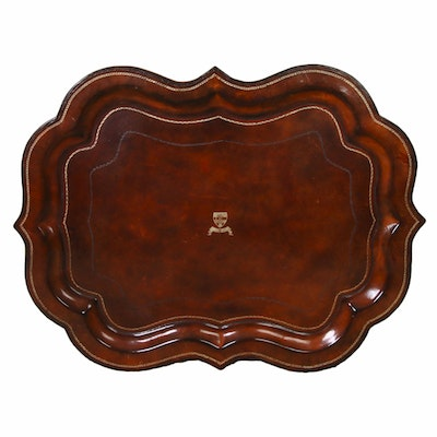 Maitland-Smith Faux Florentine Leather Tray, Late 20th Century