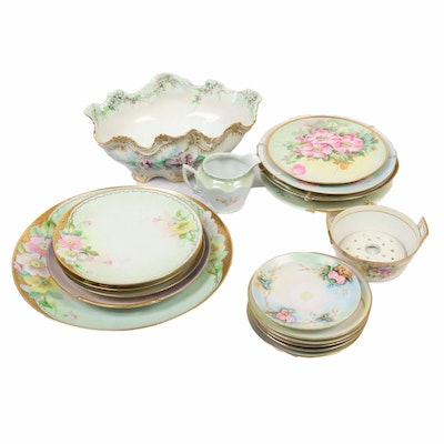Tressemann & Vogt with Other European Porcelain Serveware and Cabinet Plates