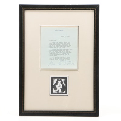Joan Crawford Signed Letter About George Cukor, April 22, 1960