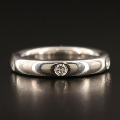 Platinum Diamond Gypsy Set Eternity Band