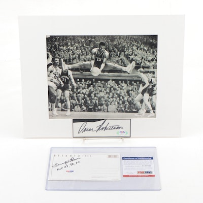 Oscar Robertson and Lenny Wilkens Signed Items PSA/DNA Authenticated